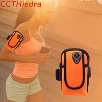CCTHiedra Brand 4 0 6 0 Inch Sports Armband Running Bags Pouch Zippered Cover Arm Wallet