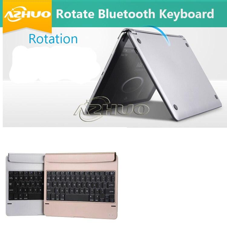 Prix pour Or/noir couleurs de mode bluetooth clavier case pour apple ipad pro 9.7/ipad air2/ipad air 2 peut imprimer langue locale