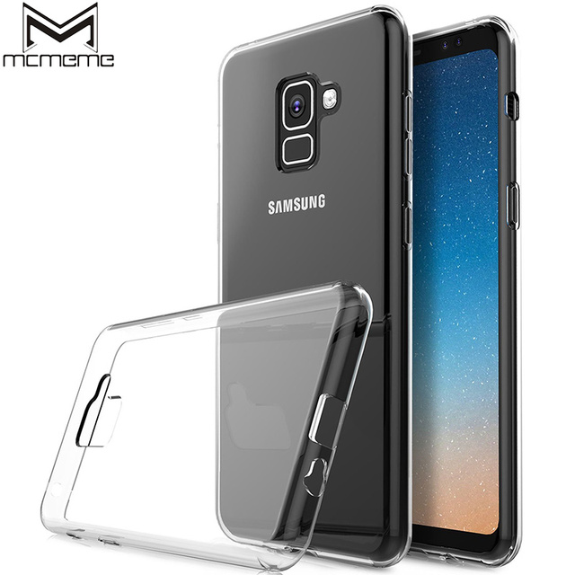 8c782e6b623 Transparent Case For Samsung Galaxy A8 2018 Case Soft Silicone Clear TPU Back  Cover For Samsung A8 Plus 2018 Protective Case Bag