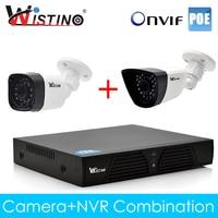 Wistino CCTV PoE IP Camera XMeye NVR Kits Set 720P 960P 1080P Outdoor Surveillance Security System