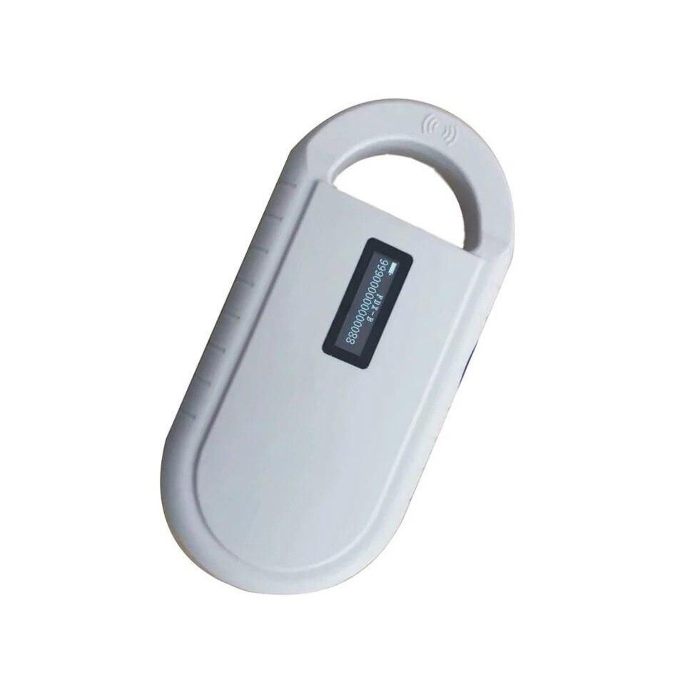 134.2KHz FDXB ISO11785/84 FDX-B Pet Microchip Scanner Reader Animal Tag Ear Handheld Reader handheld pet