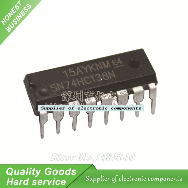 5 uds 74HC138N 74HC138 SN74HC138N IC 3-to-8 decodificador/demultiplexor DIP-16 nuevo envío gratis Original
