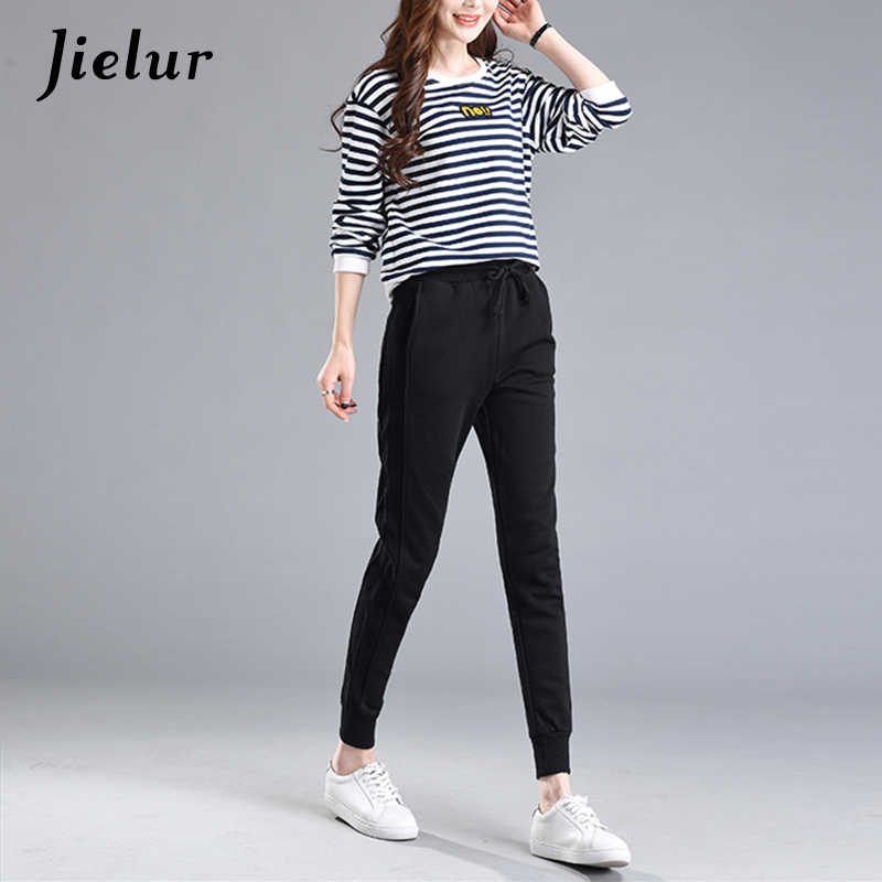 5c54051fc724 Detail Feedback Questions about Casual Pants Female 2019 Spring Autumn New  Skinny Harem Pants Solid Color Black Trousers for Women Sweatpants Pockets  ...