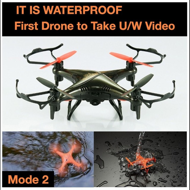 Newest Professional RC Drone F-51 2.4G 4CH 6Axle Mode2 3D Waterproof  RC Helicopter Quadcopter With 2.0 MP HD Camera vs DM007