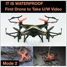 Date Professionnel RC Drone F-51 2.4G 4CH 6 Essieu Mode2 3D étanche RC Hélicoptère Quadcopter Avec 2.0 MP HD Caméra vs DM007