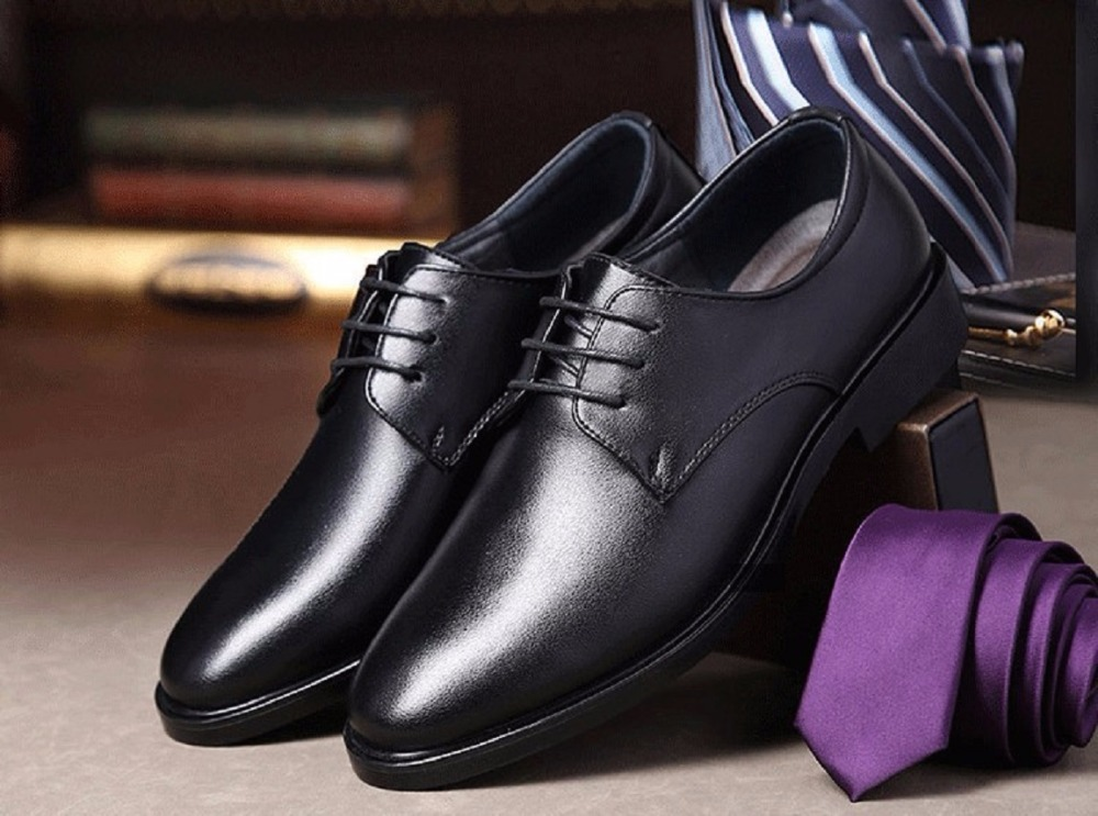 Fashion Leather Men Dress Shoes Luxury Men's Business Casual Shoes Classic Gentleman Shoes Brand All Season size 38-44 PM-08