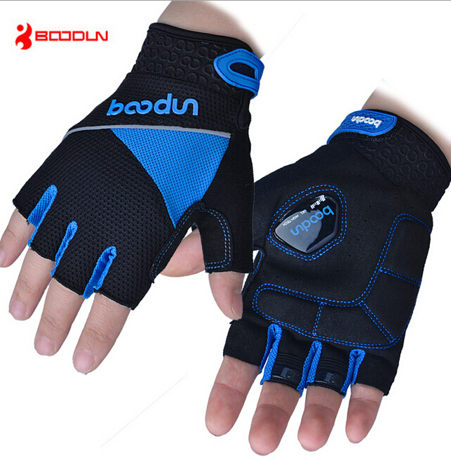 Boodun Breathable MTB Bike Cycling font b Gloves b font Half Finger silicone non slip Men