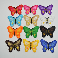 120Pcs Butterfly Embroidered Applique Iron On Sew On Patch Mixed Color for diy sewing wholesale