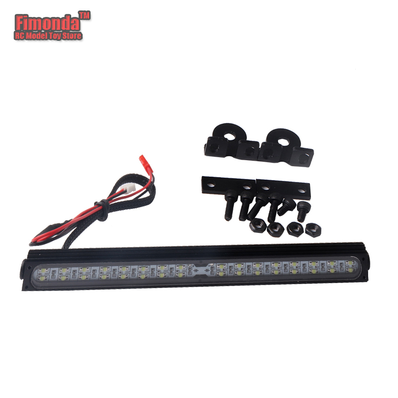 Fimonda for 1/10 RC Car Traxxas Trx4 SCX10 Roof Lamp Metal  Roof LED Light Bar  Rock Crawler Car Decor Simulation LED RC4WD D90