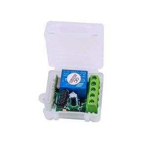 Image 2 - Kebidu 433 MHz AC 12V bezprzewodowy 1CH nadajnik RF pilot przełącznik + przekaźnik odbiorczy RF dla światła pilot do drzwi garażowych
