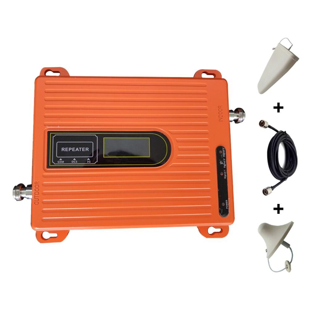 Chaud 70dB répéteur 2g 3g 4g Tri bande Signal Booster 900 1800 2100 GSM WCDMA UMTS LTE répéteur cellulaire 900/1800/2100 mhz Orange