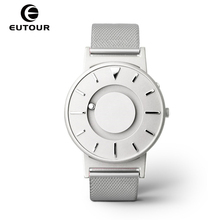 hot deal buy 2017 new style silver black mens watches magnetic ball fashion watch simple mimimalist watches creative men clock 30