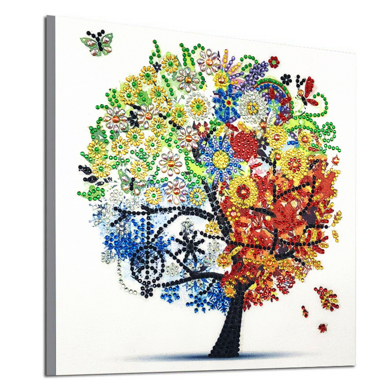 DIY 5D Diamond Embroidery Colorful Tree Butterfly Bead Diamond Painting Cross Stitch Pearl Crystal Sale Hobby Gift Decor 1 (6)