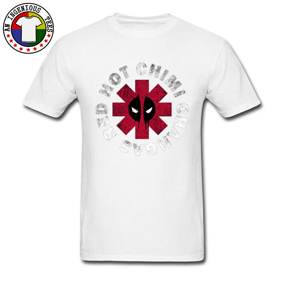 Hot Chili Peppers Deadpool T Shirts Dead Pool Mens Hip Hop Rock Rap Band Popular Mens T Shirt Fashion Clothing Summer Sweatshirt in T Shirts from Men 39 s Clothing