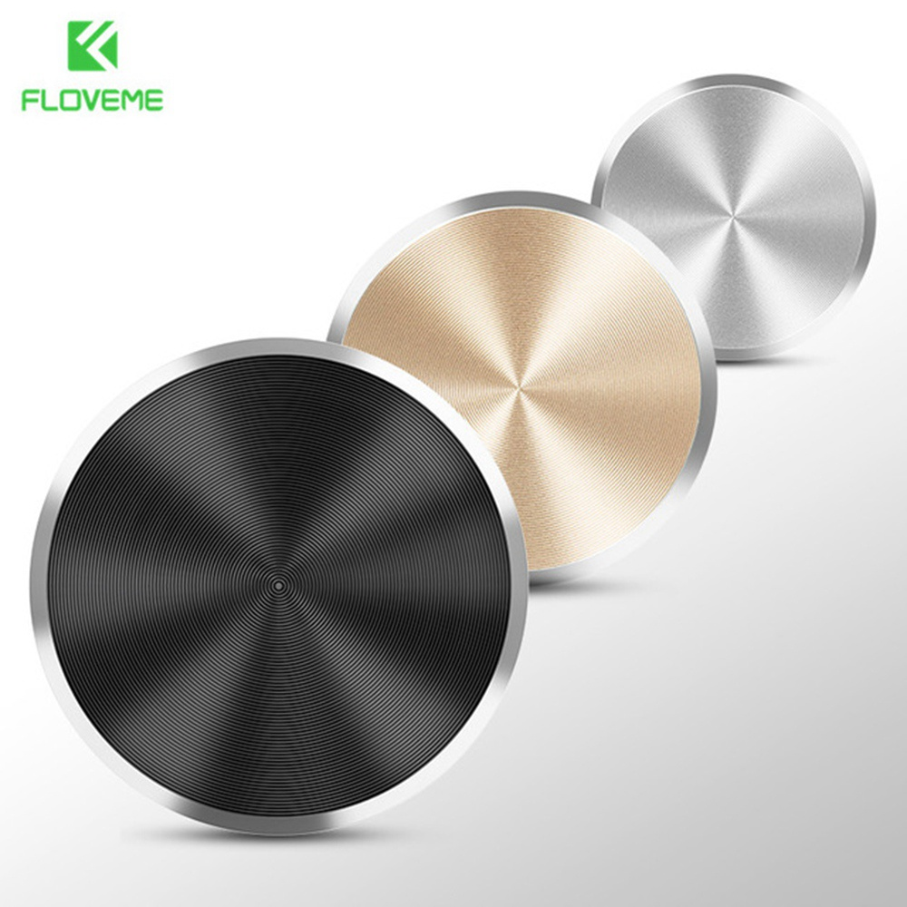 FLOVEME Universal Magnetic Disk For iPhone X 8 7 6 Plus Car Phone Holder Plate Magnet For Xiaomi Redmi 4X 5 Iron Car Accessories