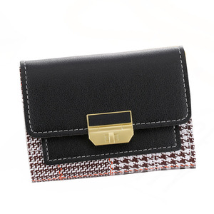 Wallet Women Mini Wallet Hasp PU Leather Wallet Women Small Clutch Card Female Purse Coin Card Holder Bag Black Students wallet