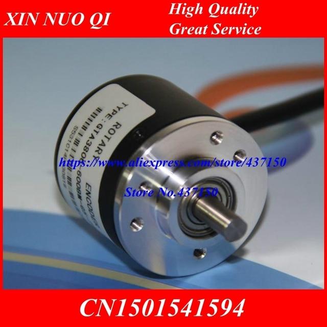 Neue inkrementelle photoelektrischen drehgeber 400 P/R 600 P/R 360 P/R puls/linie AB 5-24 V NPN ausgang