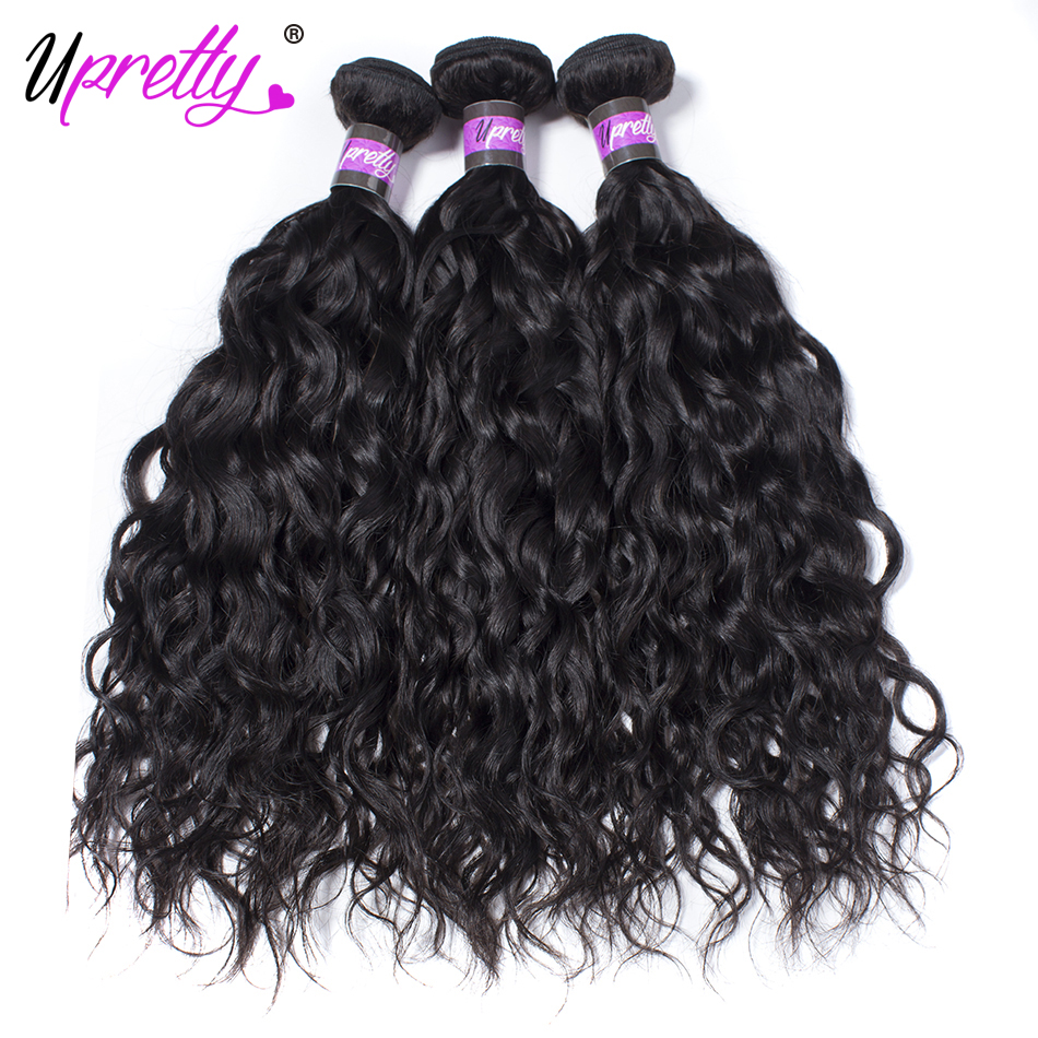 Upretty Hair Human Hair Wet And Wavy Bundles 3 Bundle Deals Malaysian Water Wave Bundles Natural Color Cheap Remy Hair Bundles ...