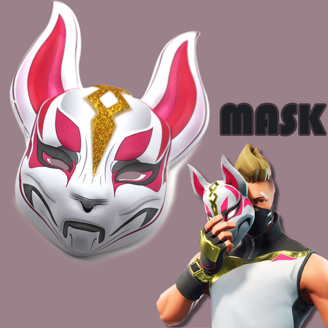 Fort night BATTLE ROYALE Drift Fox Mask Cosplay Costume Toy Figure for Halloween