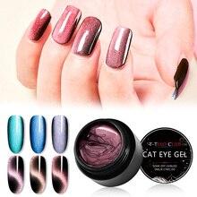T-TIAO CLUB 5D Cat Eye Magnet Nail Gel Polish Starry Sky Eyes Nails Soak off Magnetic UV Varnish Art