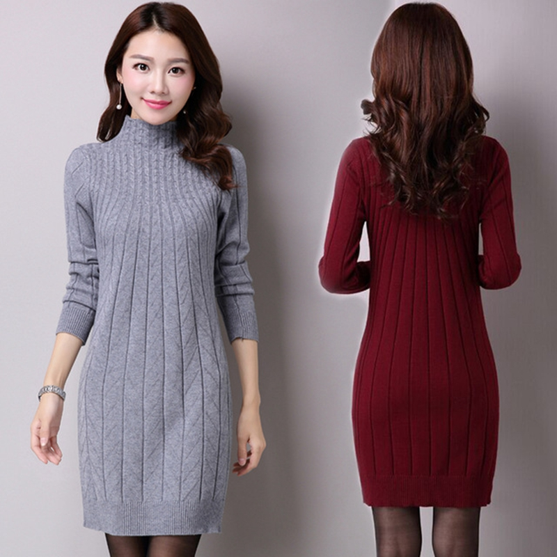 New long 2018 winter leisure fashion women sweater woman pullovers pullover sweater dress clothes WU119 thumbnail