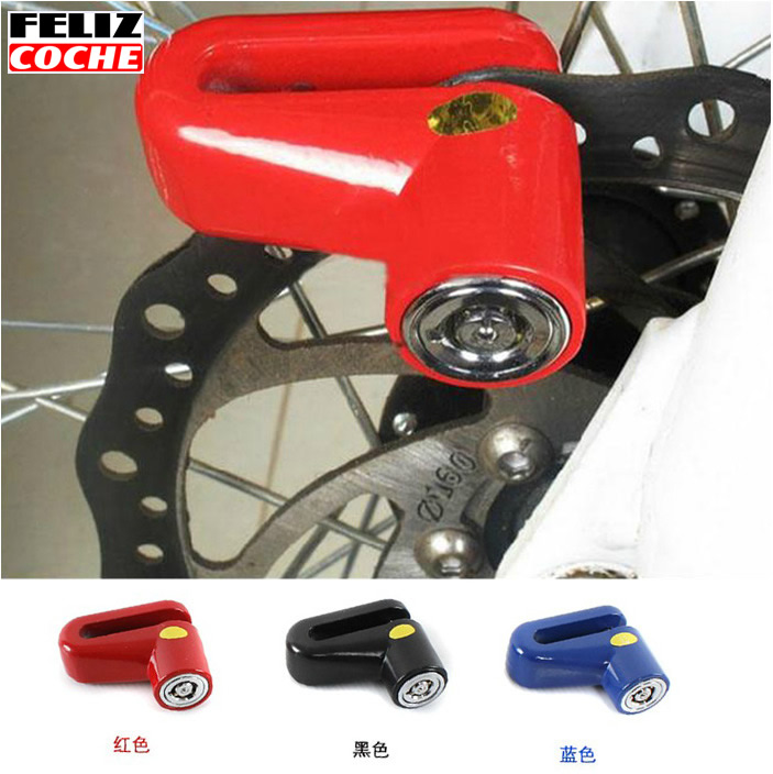 New Style Motorcycle Lock Security Anti Thief Scooter Bicycle Disc Brake Wheel Lock motor lock Gift Lock Box Blocca Disco A7017