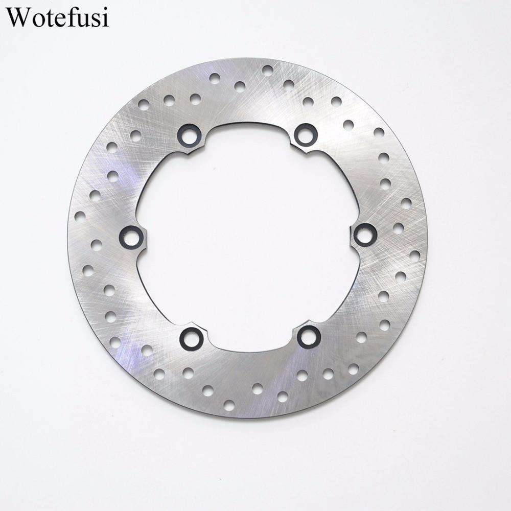 Wotefusi 1 Pcs Rear Brake Disc Rotor For Honda CBR 1000 1100 Blackbird VFR 750 XL 1000 [PA185] dunlop sp touring t1 205 70 r15 96t