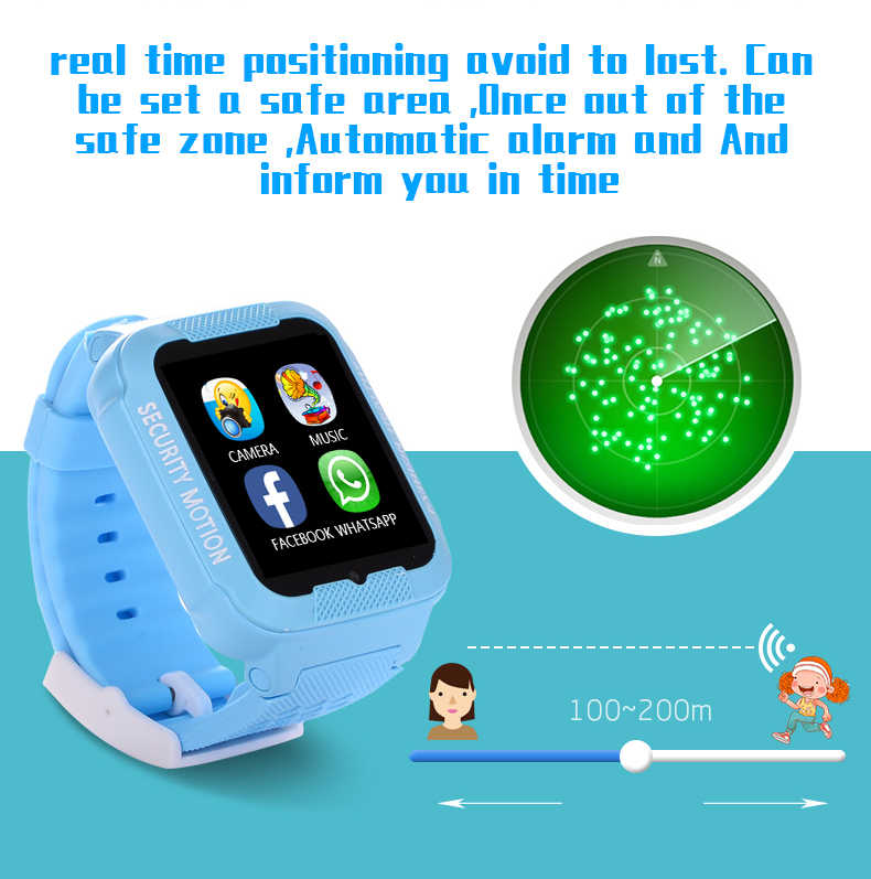 1PCS GPS tracker watch for kids K3 with camera 2.5D Touch screen waterproof children watches GPS tracker SOS Location