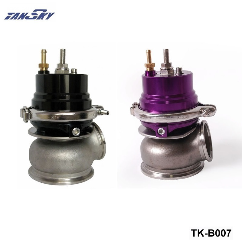 купить Purple/Black Universal External 12PSI 60MM Turbocharge Exhaust Manifold V-Band Wastegate WG W Spring TK-B007 по цене 3943.86 рублей