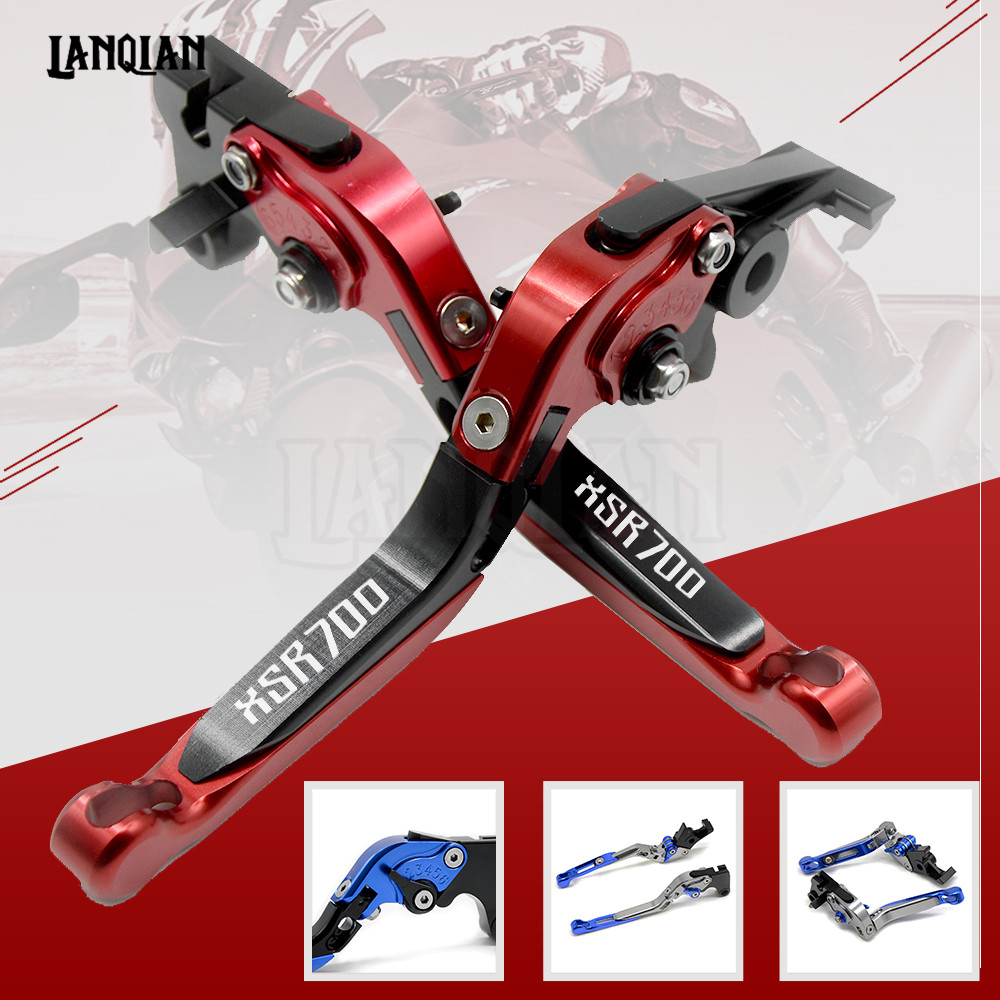 High Quality CNC Motorcycle Accessories Adjustable Folding Brake Clutch Lever For YAMAHA XSR700 2016 2017 2018 XSR 700 With LOGO keoghs real adelin 260mm floating brake disc high quality for yamaha scooter cygnus modify
