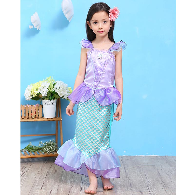 Aliexpress.com : Buy Girls Mermaid Dresses Princess Fancy Clothes ...