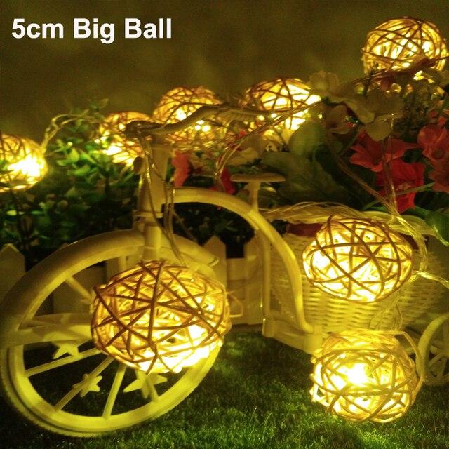 5cm big ball led christmas tree lights 5m 20leds led ball string lamps wedding garden pendant