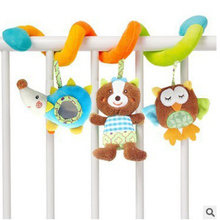 21 Styles Animals Spiral Rattles Crib Stroller Baby Bed Toys Stuffed Stroller Toys Plush Baby Development Toys for Kids