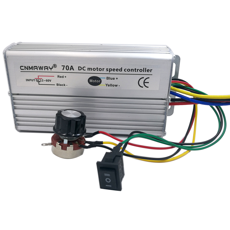 12V-60V DC motor Speed Controller 70A Reversible PWM Control Forward Reverse Switch 2 speed switch used for air damper hvac systems used double composite contact switch forward and reverse motor switch