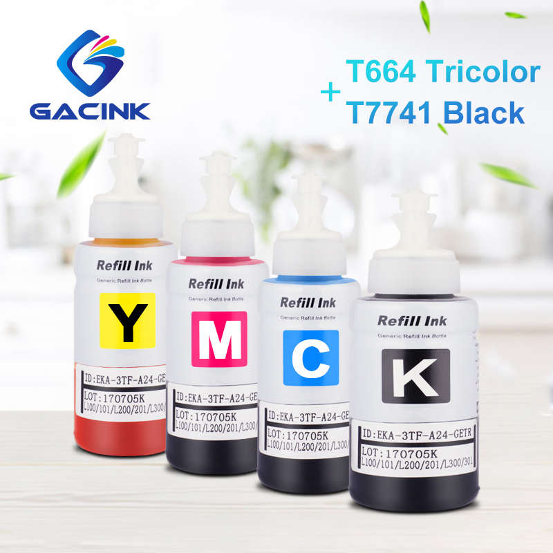T7741 T6642 T6643 T6644 Dye Ink 664 Ink Bottle For Epson