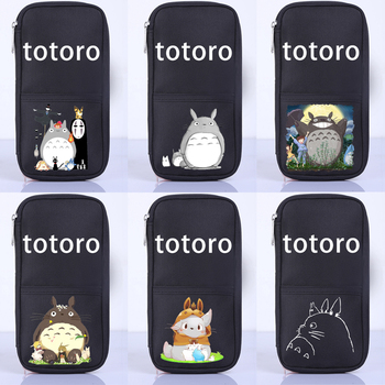 Anime Hayao Miyazaki totoro Stationery Girls Pencil Case For School Pencil Cases Kawaii Pencil Bag Pencil Case For Boy School secret garden defence fall sketch color pencil cases for girls bag will capacity stationery case beautiful fine arts wj hd24