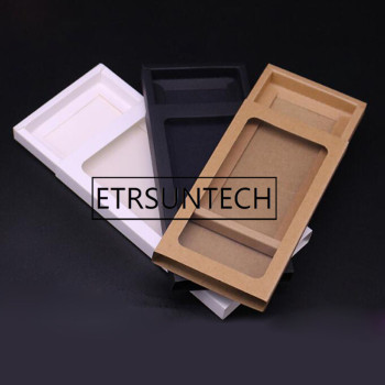 100pcs/lot Kraft packaging cardboard sliding box kraft packaging gift craft box with pvc window paper drawer box gift