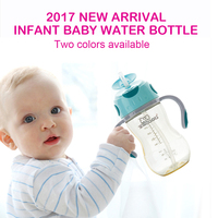 Newborn Baby Bottle With Food Grade Silicone Straw Infant Feeding Bottle One More Free Straw BPA