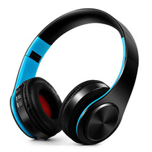 Беспроводной наушники Bluetooth наушники складные гарнитура музыка стерео бас наушники С микрофоном для ПК мобильный телефон Mp3