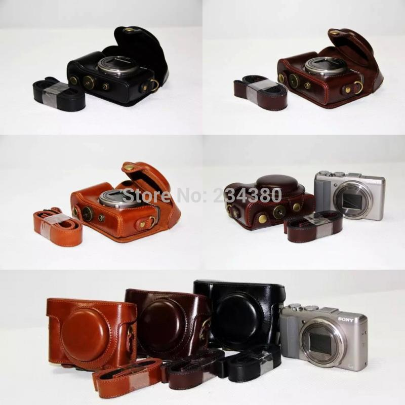 Original High Quality Leather Camera Case Bag For sony RX100 RX100m2 RX100m3 SC-RX100 II RX100M2 ...