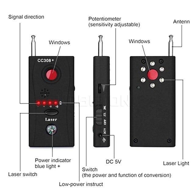 1 Sets Wireless RF Signal Detector CC308 + Multi-Function Camera GSM Alarm System built-in battery Full Range 4