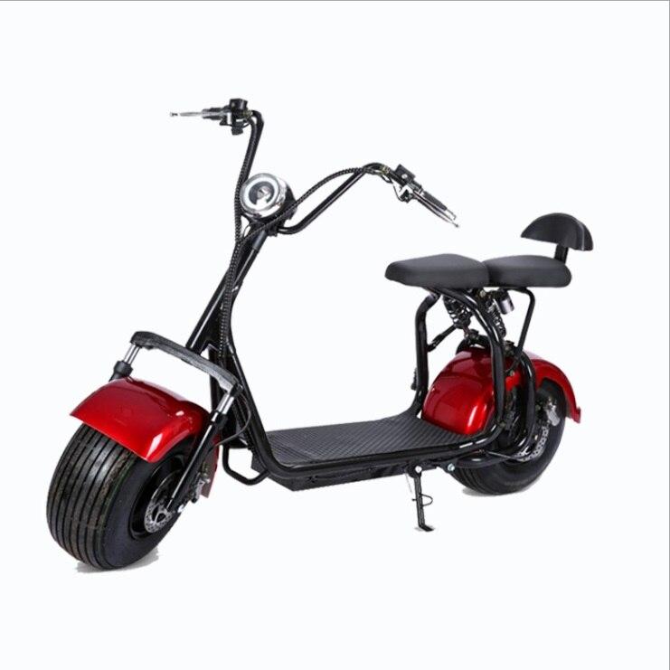 Moto vélo électrique Citycoco scooter électrique moteur 1500 W batterie au Lithium 20A moto électrique charge rapide e vélo