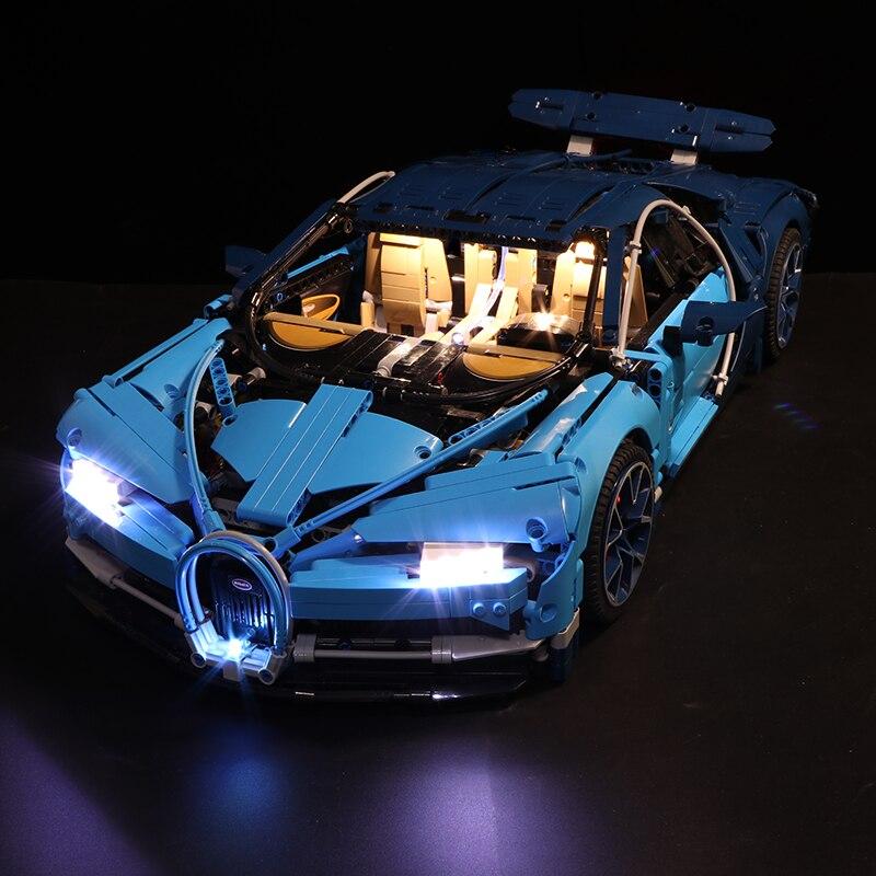 Lumière led Set Pour Lego 42083 Compatible 20086 Bugatti Chiron Technique voiture de course jeu de construction Cadeaux (seulement lumière + boîtier de batterie)