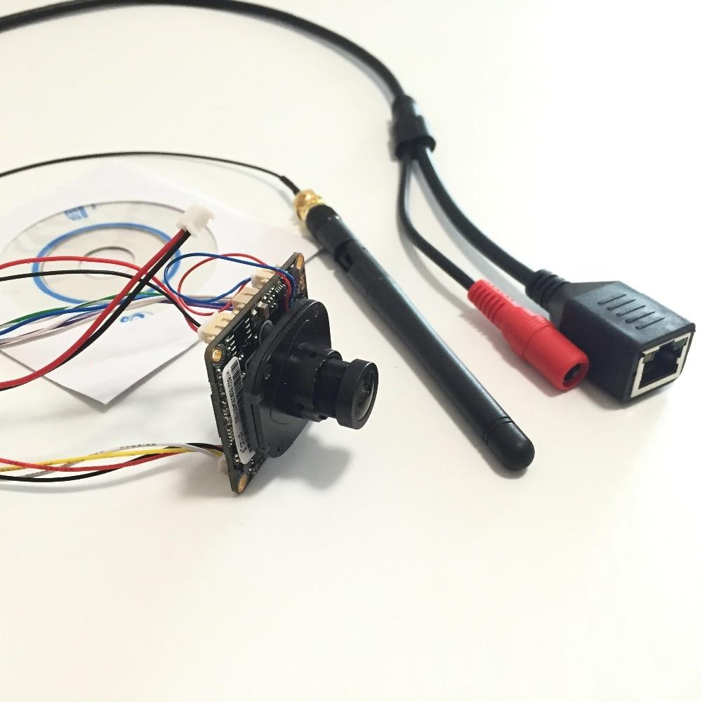 bilder für Neue WiFi 720 P H.264 P2P IP Netzwerk Mini HD 1,8mm Weitwinkel 150 Grad Bord Kamera