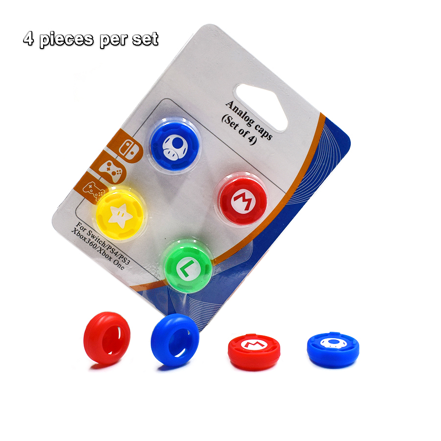 4 pcs High-quality Controller protective Silicone Caps Analog Case Cover Skin for Nintend Switch Pro Joysticks 1