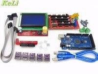 3D Printer Kit 1pcs Mega 2560 R3 1pcs RAMPS 1 4 Controller 5pcs DRV8825 Stepper Motor