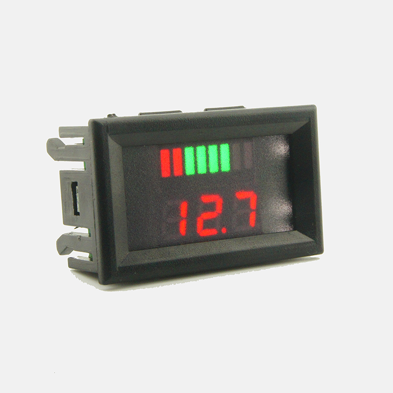 12-60V-Blei-Säure-Batterie-Kapazität LED-Indikator-digitale Voltmeter-Teste