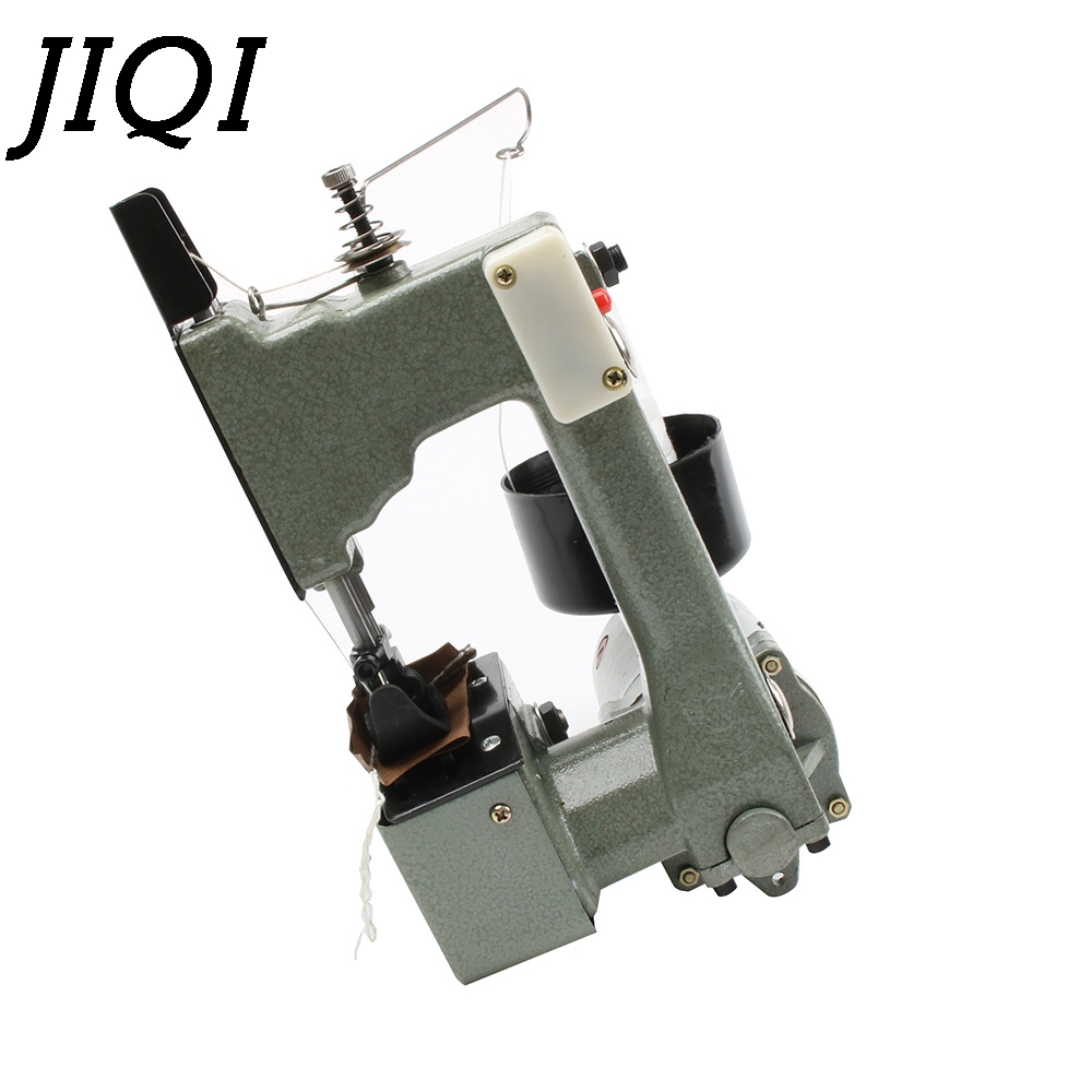 JIQI Electric Sewing Machine Sealing Machines handheld Industrial Cloth Bag Closer Aluminum alloy Manual Stitching maker EU plug
