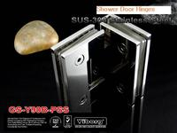 (1 pair) VIBORG SUS304 Stainless Steel Glass to Glass Shower Door Hinge, Frameless Shower Door Hinge, Shining,GS Y90B PSS