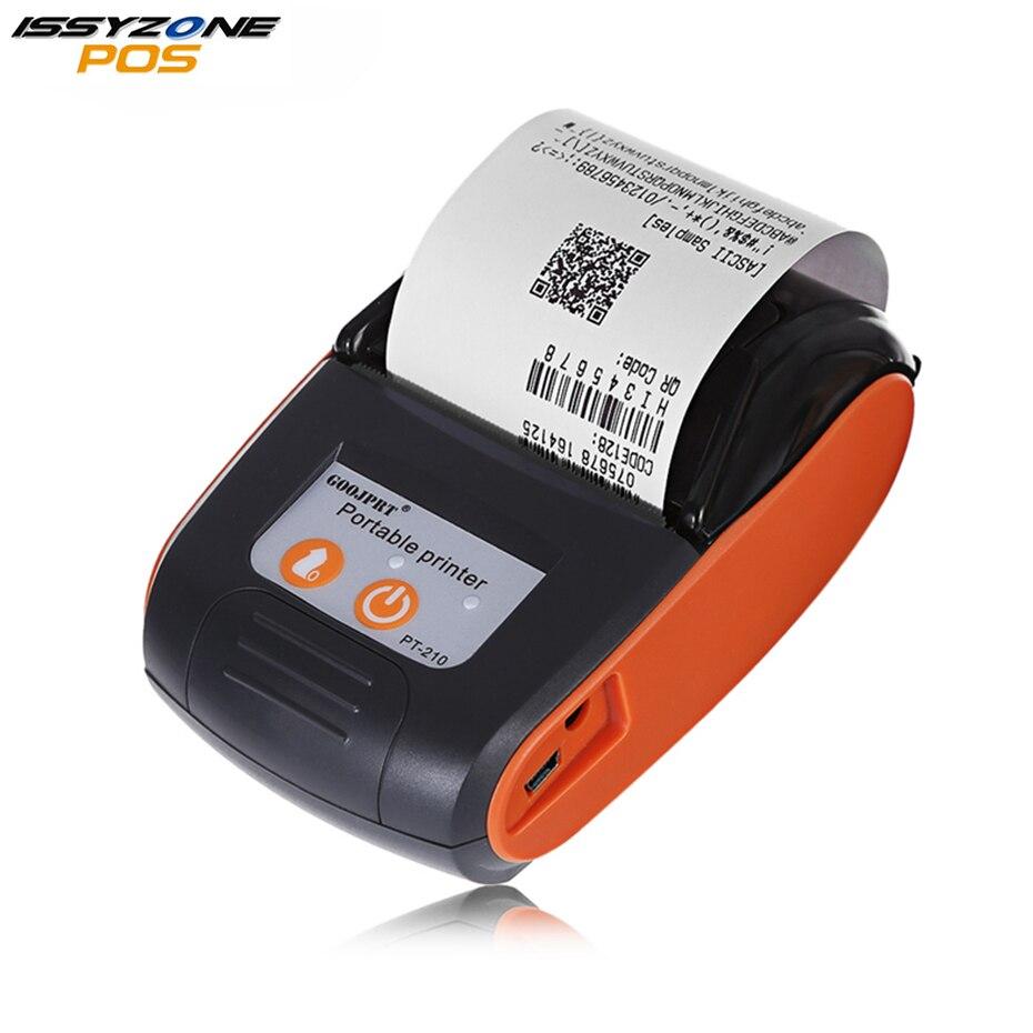 ISSYZONEPOS 58 мм Bluetooth термопринтер Мини Портативный беспроводной чековый принтер для Windows Android IMP026